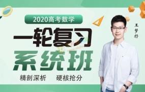 2020王梦抒数学一轮复习系统班腾讯课堂全套视频课含刷题讲义